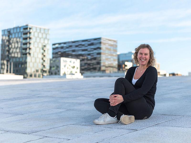 Caroline Paviet, guide touristique à Oslo